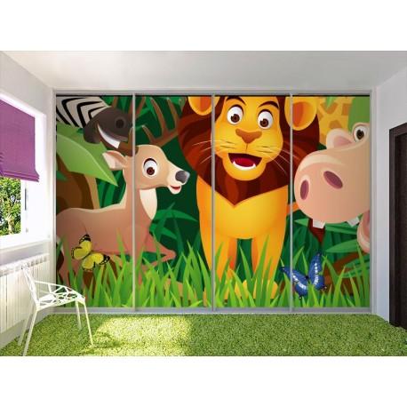vinilos imagen producto Fotomural Infantil Animales Selva