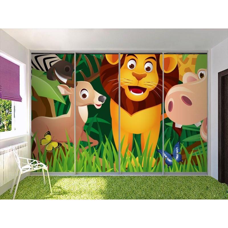 Fotomural infantil animales selva for Fotomurales infantiles