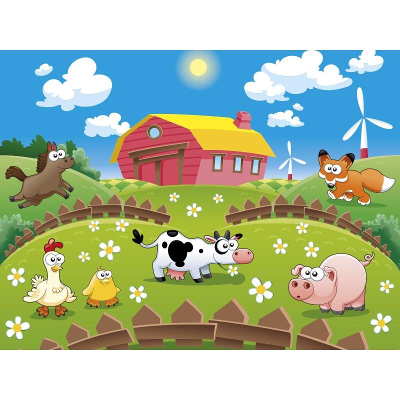 Fotomural animales granja ii - Fotos de animales infantiles ...