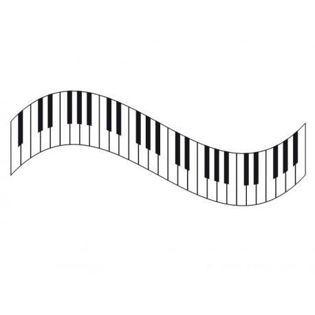 pegatina decorativa Teclas Piano II para Cabecero