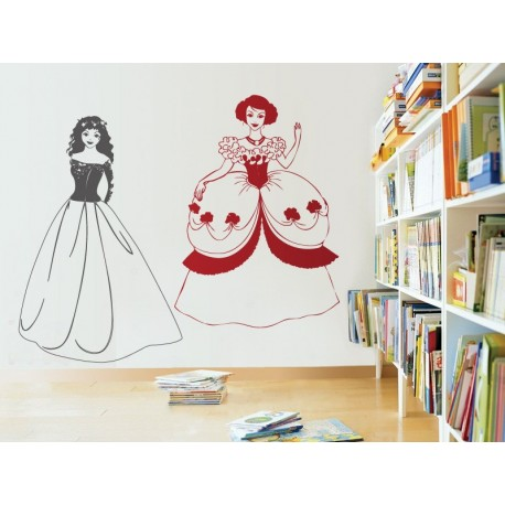 vinilo decorativo Princesa