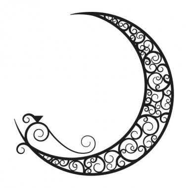 vinilo decorativo Luna Étnica