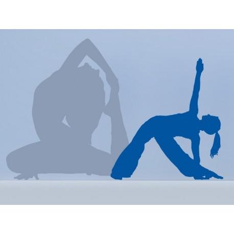 Yoga Postura II decoración con vinilo