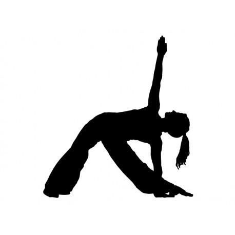 Yoga Postura II adhesivo decorativo ambiente