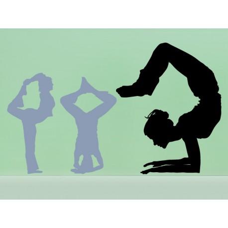 Yoga Postura V adhesivo decorativo ambiente