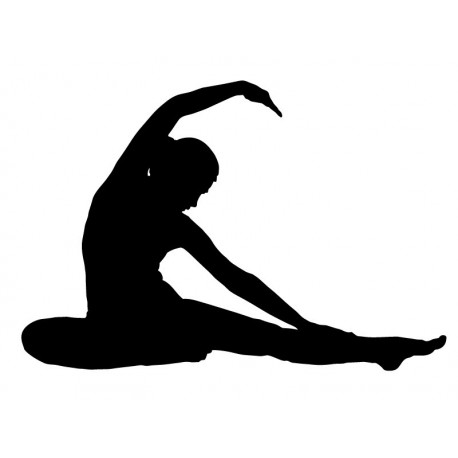 vinilo decorativo Yoga Postura VI
