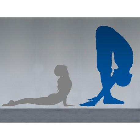 Yoga Postura IX decoración con vinilo