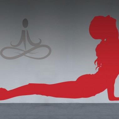 vinilos imagen producto Yoga Postura X