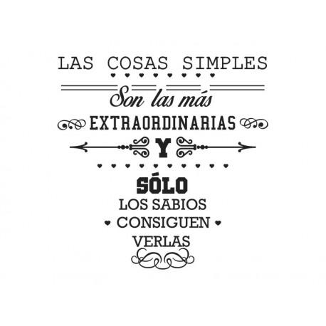 Vinilo frase Las Cosas Simples imagen vinilo decorativo