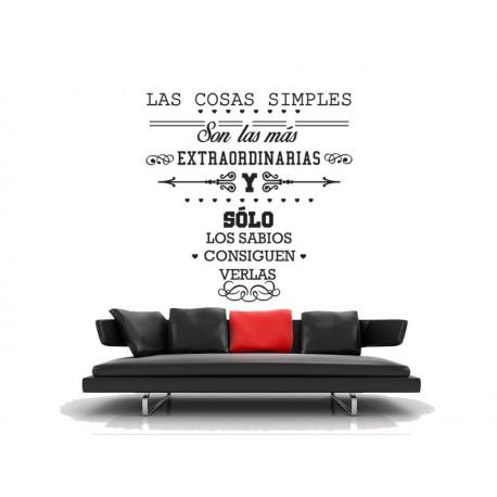 pegatina pared Vinilo frase Las Cosas Simples