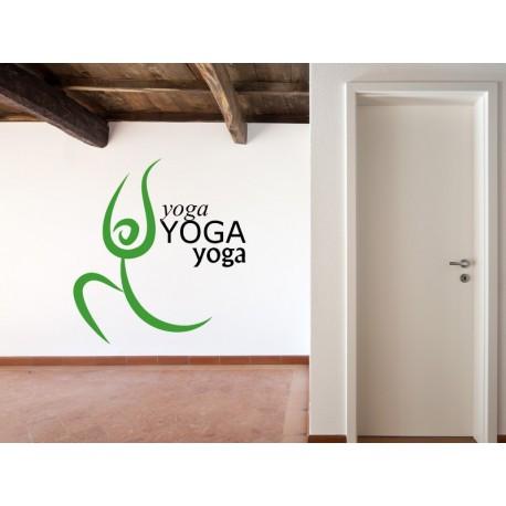 vinilo decorativo Yoga Motivo III