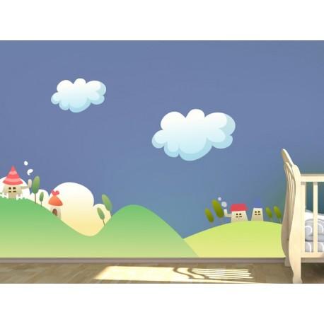 Nube I Colección Alfy decoración con vinilo