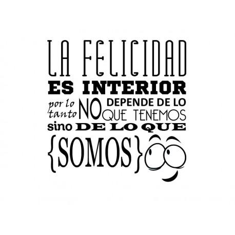 pegatina decorativa Frase sobre La Felicidad Vinilo