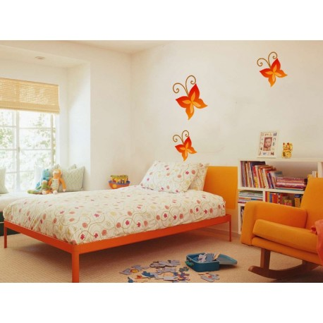 Mariposa Naranja Colección Alfy producto vinilos