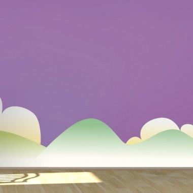 Montañas y Nubes Colección Alfy decoración con vinilo