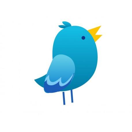Pájaro I Colección Alfy adhesivo decorativo ambiente