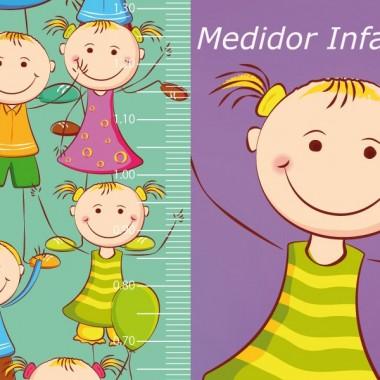 Medidor Fiesta Globos imagen vinilo decorativo