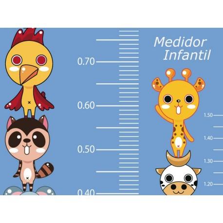 Medidor Animalitos Azul producto vinilos