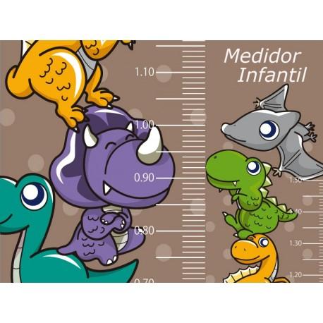 adhesivo decorativo Medidor Dinosaurios
