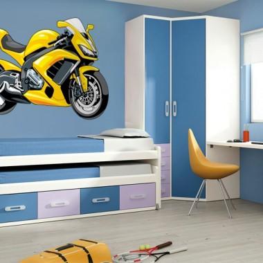 Moto Carreras decoración con vinilo