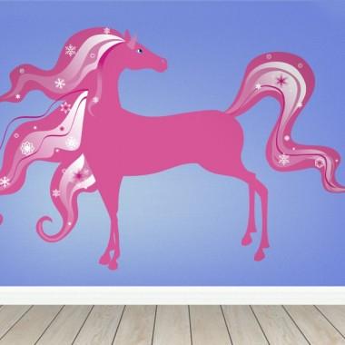 Caballo Fantasía Rosa adhesivo decorativo ambiente
