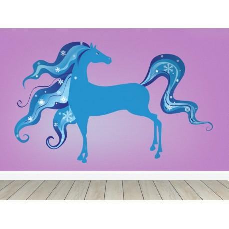 Caballo Fantasía Azul producto vinilos
