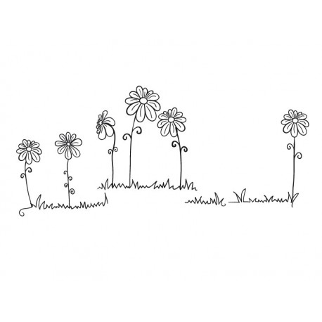 Florecillas Motivo imagen vinilo decorativo