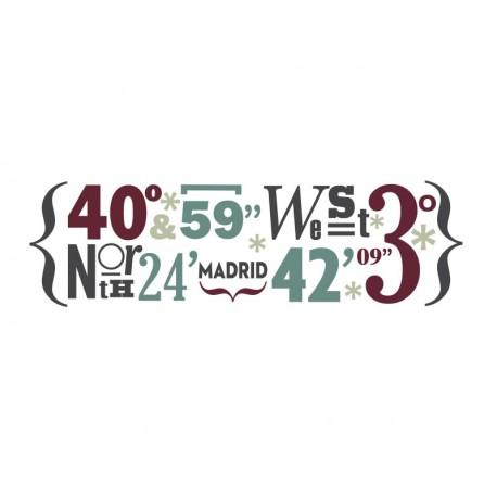 Madrid Coordenadas producto vinilos