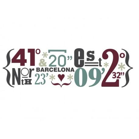 adhesivo decorativo Barcelona Coordenadas