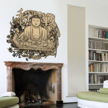 vinilo decorativo Buda para Pared