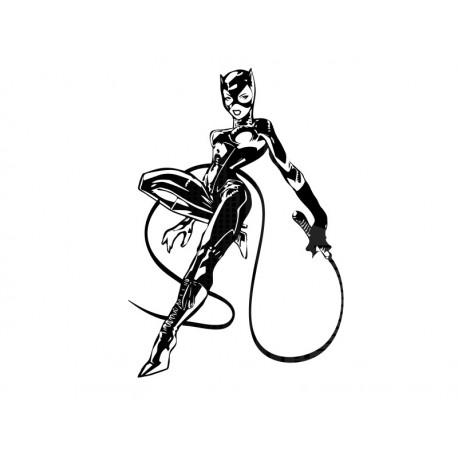 Catwoman decoración con vinilo