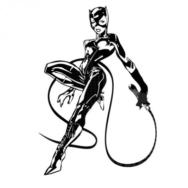 Catwoman adhesivo decorativo ambiente