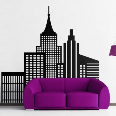 pegatina decorativa Rascacielos Comic
