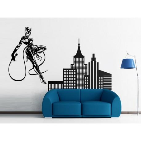 adhesivo decorativo Rascacielos Comic