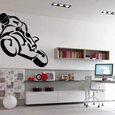 vinilos imagen producto Moto Carreras Motivo I