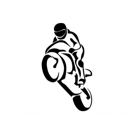 adhesivo decorativo Moto Carreras Motivo I