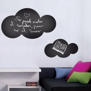 vinilo decorativo Pizarra Nube