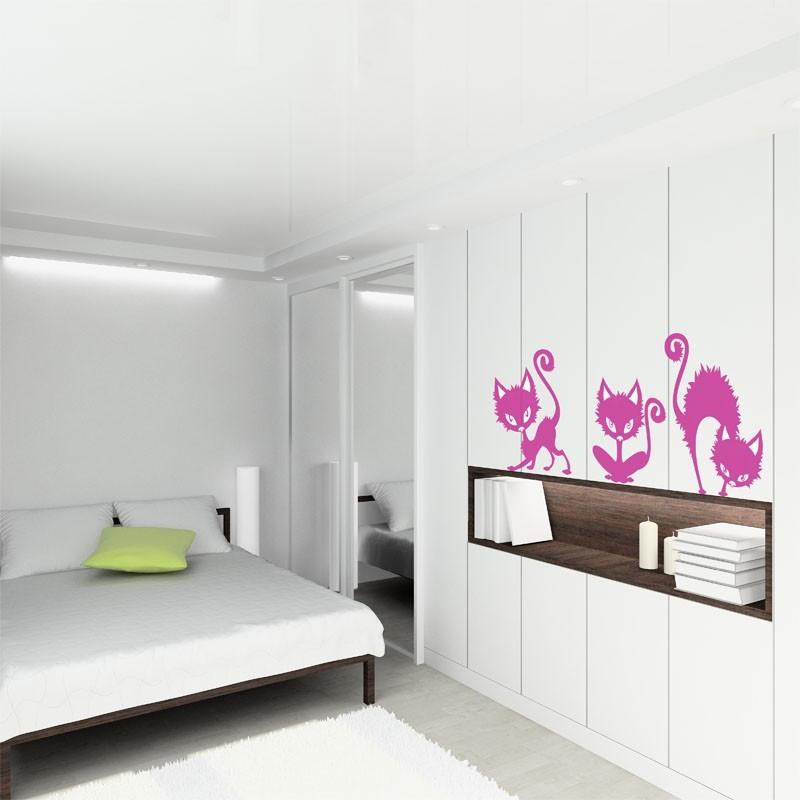 Vinilo gatos decoraci n para armario for Pegatinas para muebles
