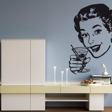 Pin Up Coctel decoración con vinilo