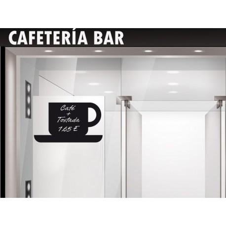 Pizarra Café adhesivo decorativo ambiente