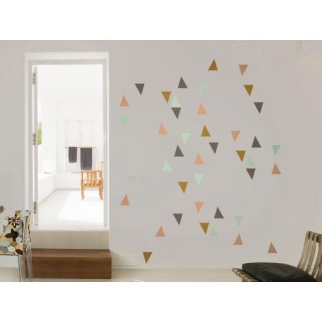 Triángulos Colores imagen vinilo decorativo