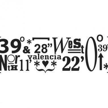 Valencia Coordenadas producto vinilos