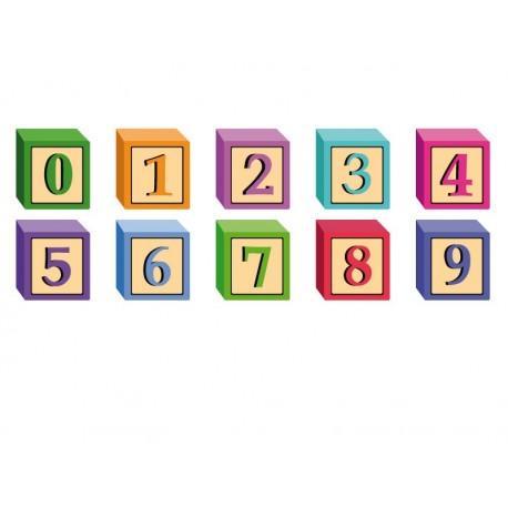 Aprende Números Cubos imagen vinilo decorativo