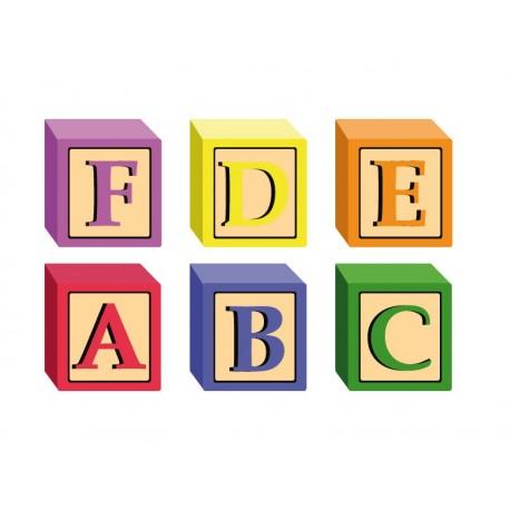 Aprende Letras Cubos decoración con vinilo