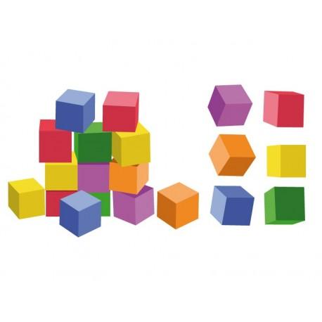 pegatina decorativa Cubos Construcción Colores