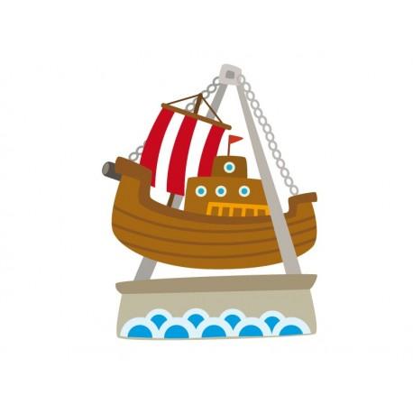vinilo decorativo Barco Vikingo Atracción