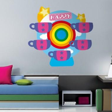 Noria Tazas Locas imagen vinilo decorativo