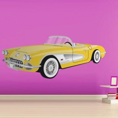 Coche Cadillac Amarillo adhesivo decorativo ambiente