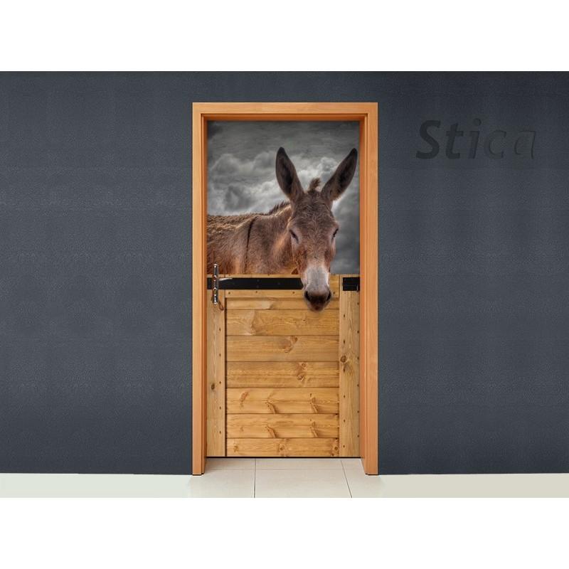 Burro en puerta for Vinilos decorativos puertas