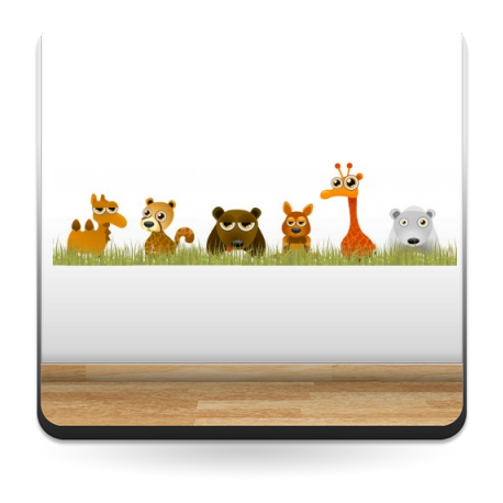 Familia Animales Selva en Pegatina producto vinilos